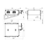 Схема приточной установки КЭВ-ПВУ165W