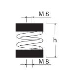 Виброизолятор ДО-42 размеры